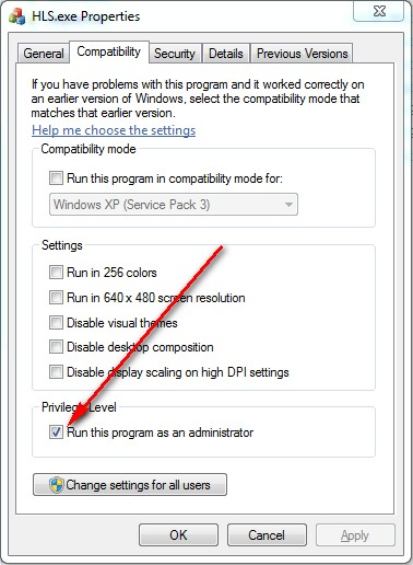 Windows7 Run as Admin1