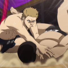 Akihira defeats an opponent in the individual matches.
