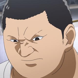 Yonemura's face closeup.