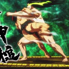 Sōsuke's Pulling Body Slam! God Body Hammer.