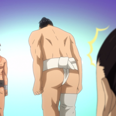 Norihiro humbly asking for a match to Hinomaru.