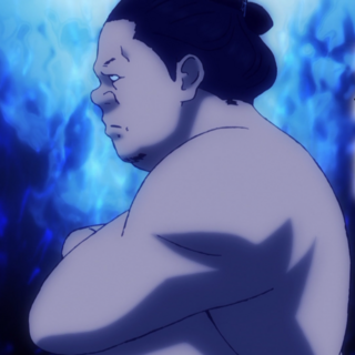 Shikbakiyama Akio during his days as a sumo wrestler.