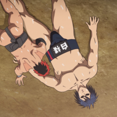 Hinomaru defeats Shidō in the team matches.