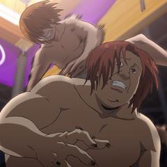 Kei uses Gung-ho Reverse on Masaomi.