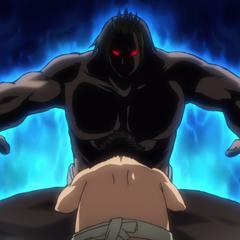 Mizuki intimidating Shinya.