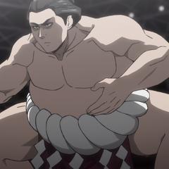 Seiichi's appearance as a Yokozuna.