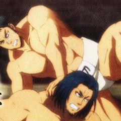 Chihiro using Leap to avoid Masato's attack.