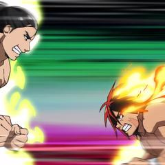 Hinomaru and Sōsuke fight in the finals.