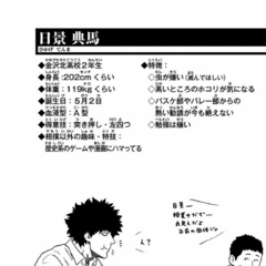 Hikage Tenma's stats.