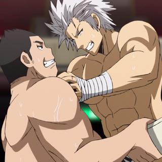 Jin lifting Yūma.