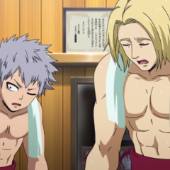 Shun and Daniel exhausted from training.