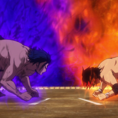 Shidō and Hinomaru's about to begin their rematch.