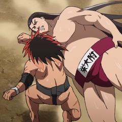 Sōsuke defeated by Hinomaru.