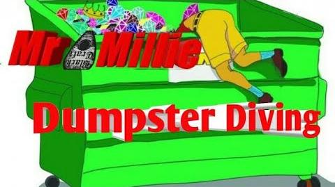 Mr Millie Dumpster Diving (short video vlog)