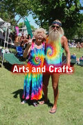 Hip Elder Hippie Couple ArtandCrafts tag.jpg