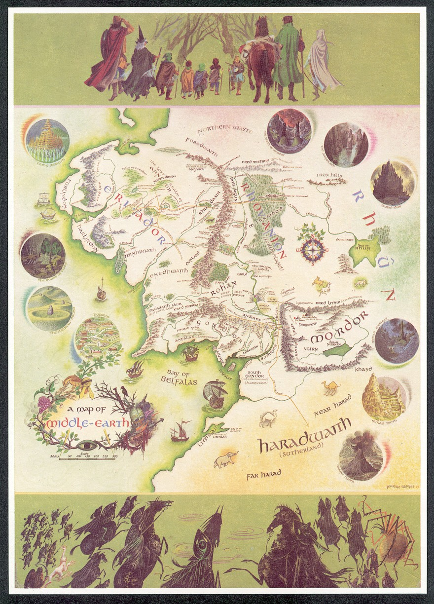 baynes map of middle earthjpg