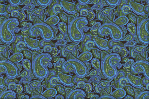 Paisley Fabric Of A Succinct Color Palette Kashmiri The 19th C Had As Many 60 Colors