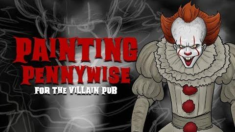 Painting Pennywise for the Villain Pub