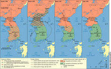 Guerra De Corea Mapa.Mapa De La Guerra De Corea Historiabae201819 Wiki Fandom