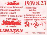 Solidarność i antypolski Pakt Sowiecko-Niemiecki - Ulotki Rolanda von Bagartuni