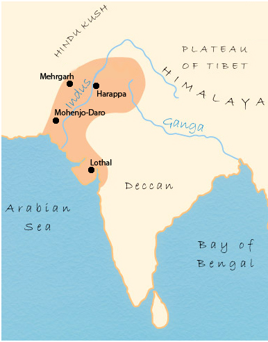 Birth Of The Indus River Valley Civilization Worlds First - World map indus river