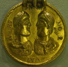 Coin valentinian valens germanic copy bodemuseum