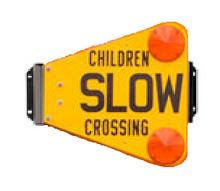 BMR children slow crossing warning blade