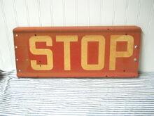 Manual stop arm