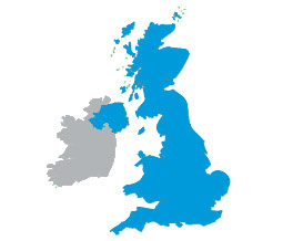 UK blue map