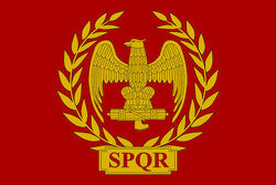 Roman empire flag