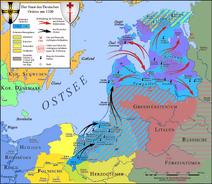 Карта Ливонского крестового похода