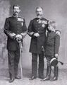 King Carol I of Romania with his nephew and great nephew.jpg