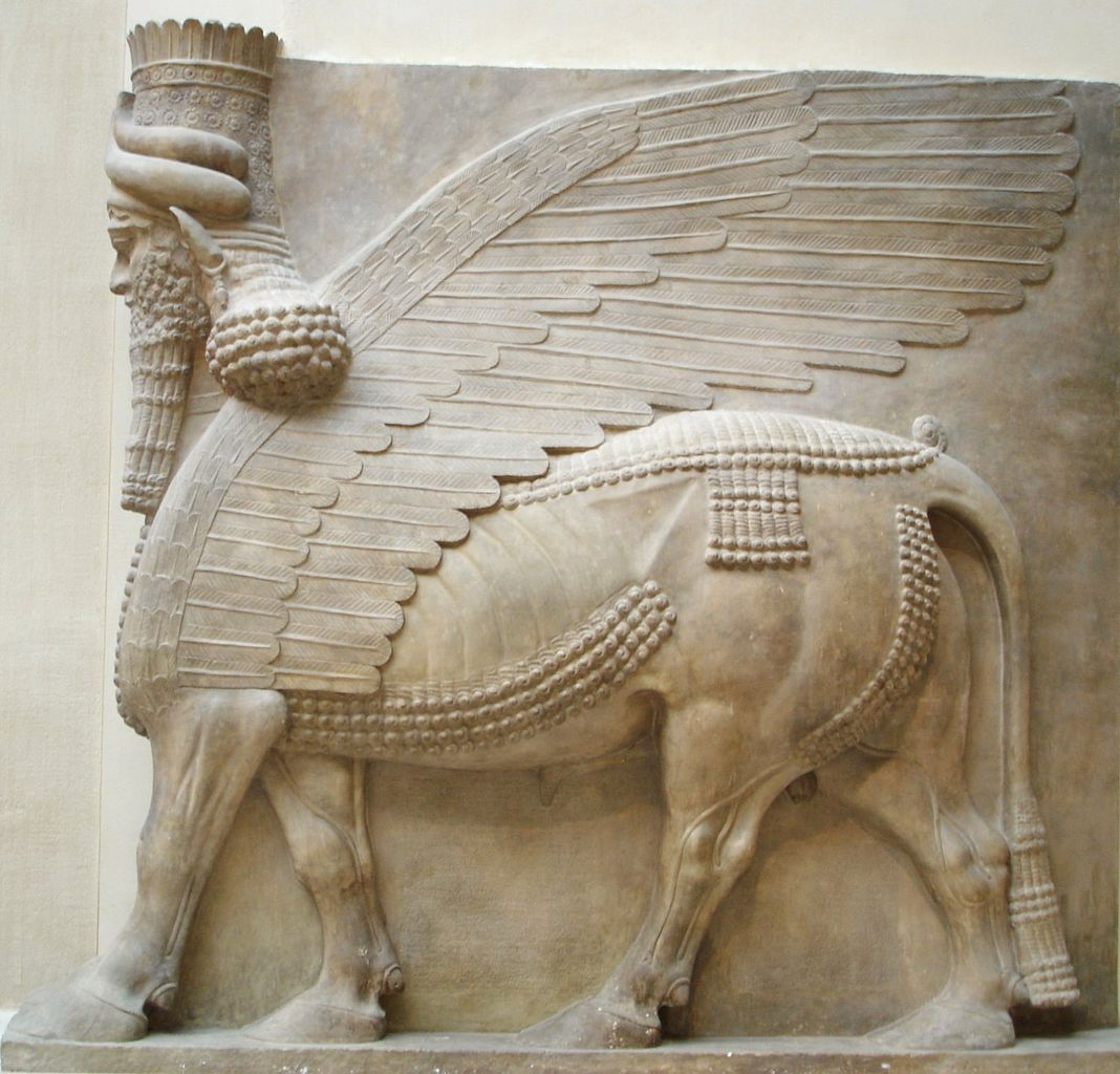 Image result for Assyrian lamassu