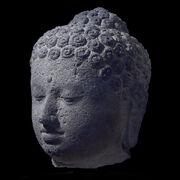 Borobudur buddha head british museum
