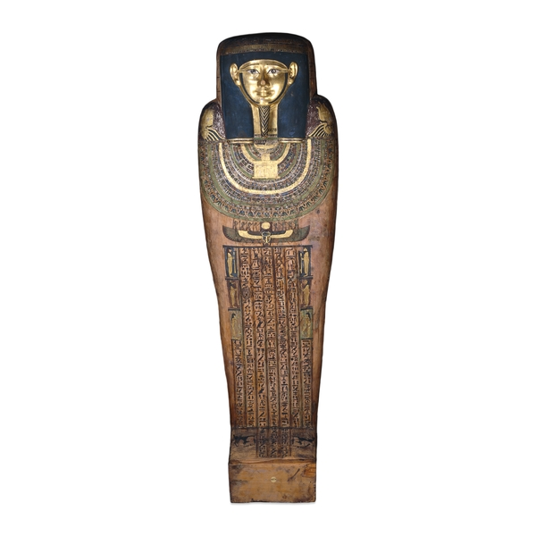 how to draw a mummy coffin