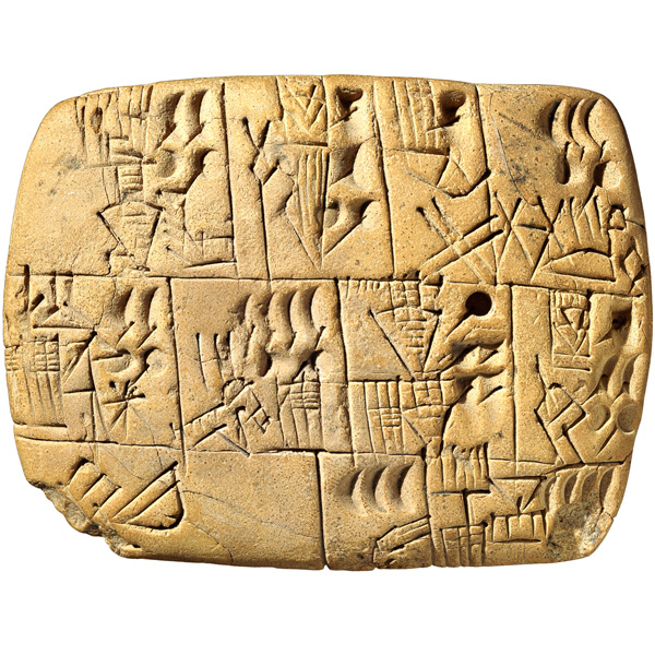 Beer Allocation Clay Cuneiform Tablet From Southern Iraq History
