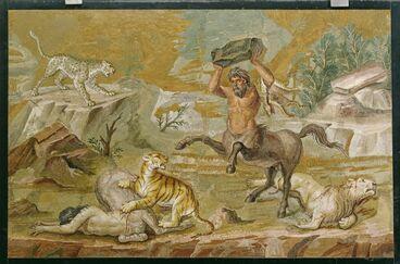 The Centaurs Mosaic Floor Mosaic