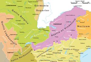 Römische Provinzen im Alpenraum ca 14AD