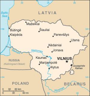 Lithuania-CIA WFB Map