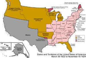 United States 1822-1824