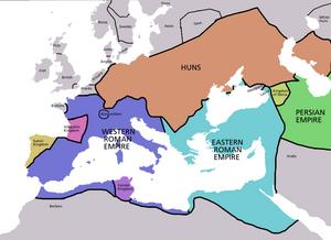 Europe map 450