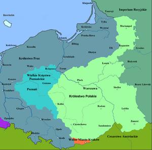 Congress Poland in 1815