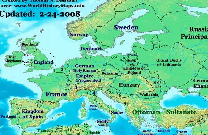Europe-1500ad