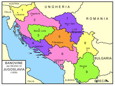 Kingdom of Yugoslavia-subdivisions-1929