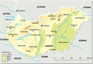 Hungary topographic map