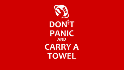 Don t panic and carry a towel by ashique47-d3fu8qd
