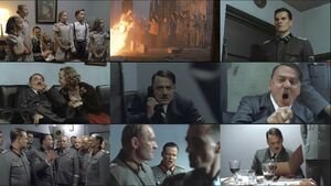Downfall scenes collage