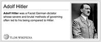 TLDR Wikipedia Hitler