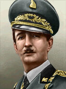 Portrait Albania King Zog
