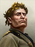 Portrait Italy Emperor mussolini